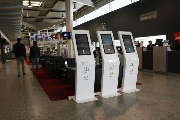 KimQ wachtrijsysteem voor Mercedes-benz