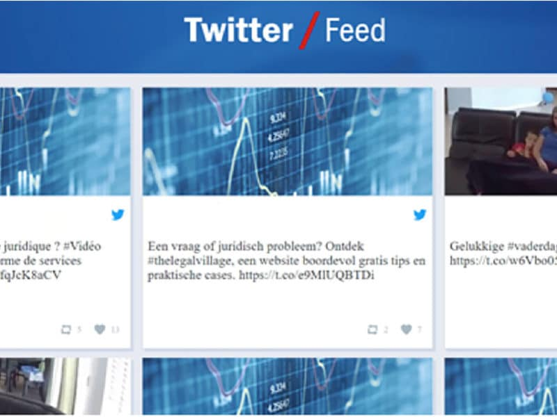 Gebruik een Twitter wall om de interactie met je bezoekers te verhogen.