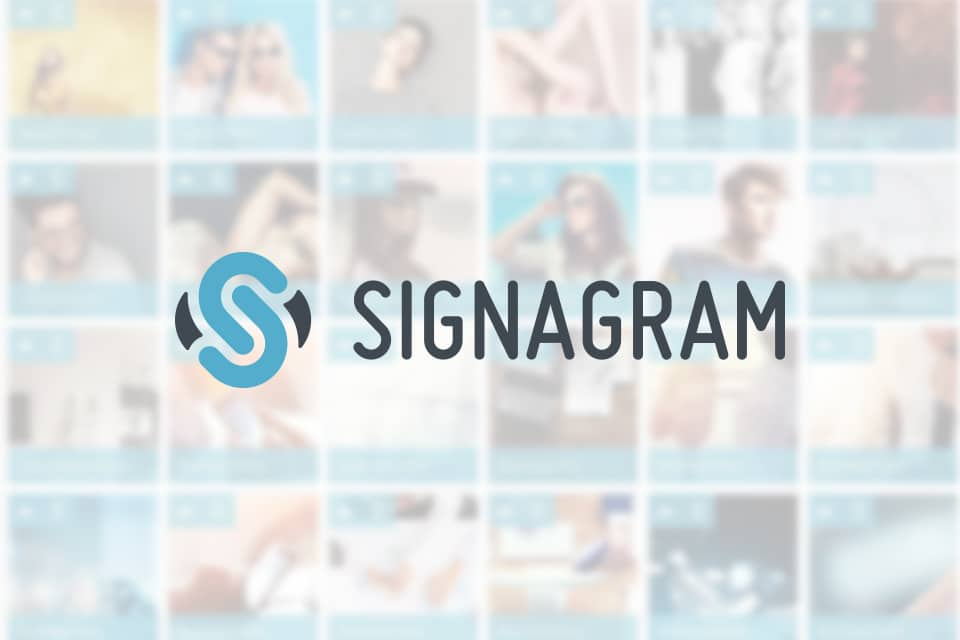 Signagram - screenshot and logo